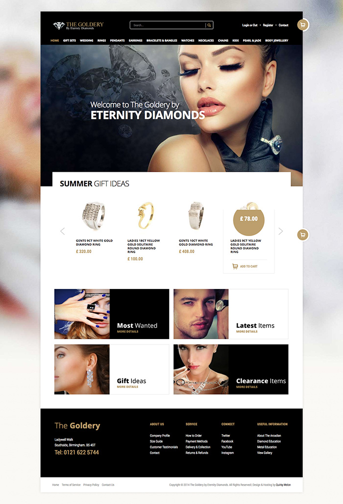 Eternity Diamonds website - Click to launch